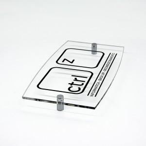Targa in Plexiglass Stampata Ellisse Moderna