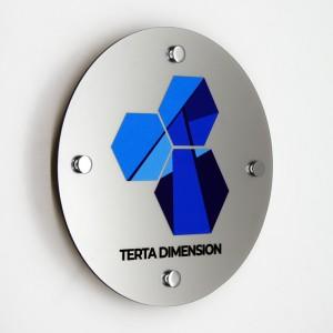Targa in Plexiglass Silver Stampata Circolare