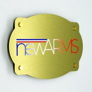 Targa in Alluminio Composito Oro Spazzolato Stampata Vintage