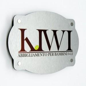 Targa in Alluminio Composito Silver Spazzolato Stampata Vintage