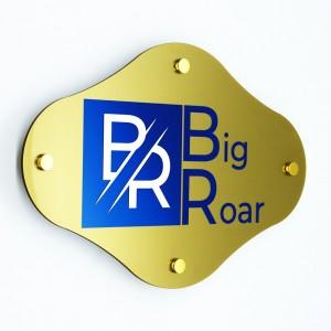 Targa in Plexiglass Gold Stampata Rombo Arrotondato