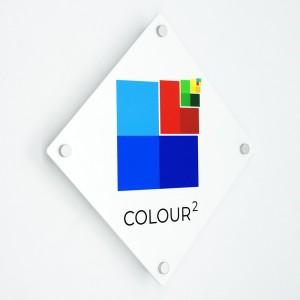 Targa in Plexiglass Bianco Stampata Rombo