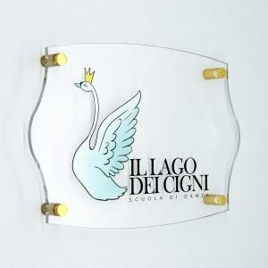 Targa in Plexiglass Trasparente Stampata Impero