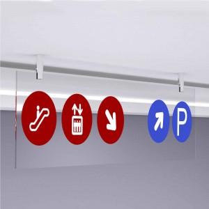 Segnaletica da soffitto personalizzata - Rettangolare