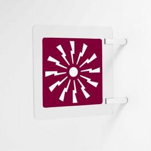 Segnaletica a bandiera - Quadrata