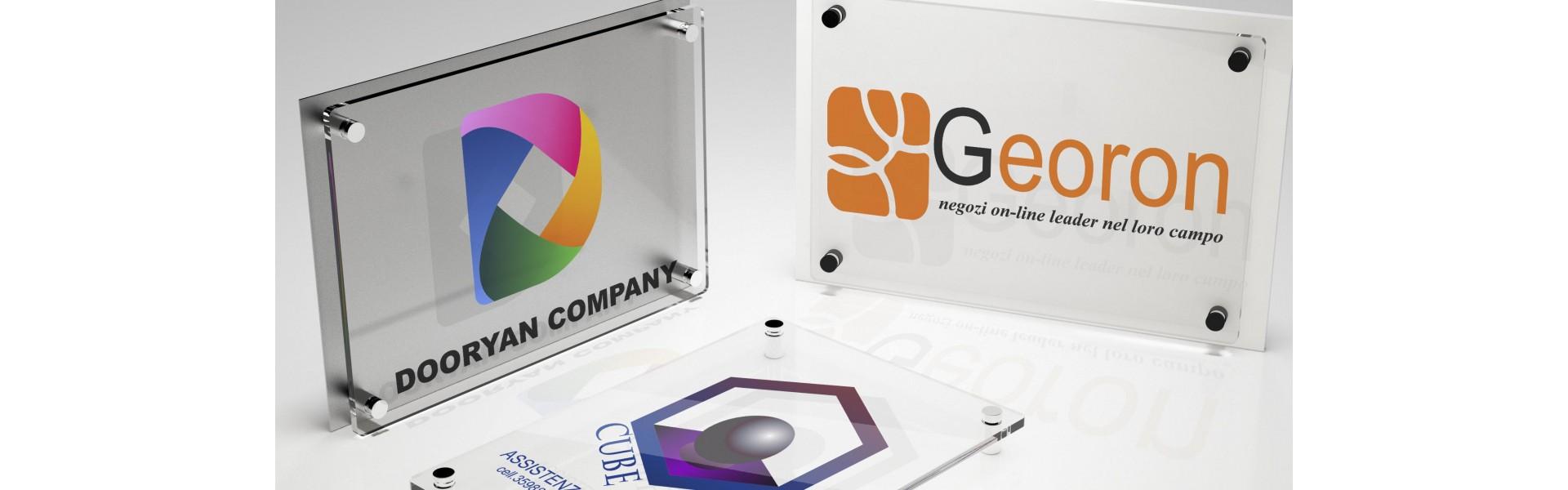 Targhe Pubblicitarie in Plexiglass | Stampa UV Led 4 colori CMYK